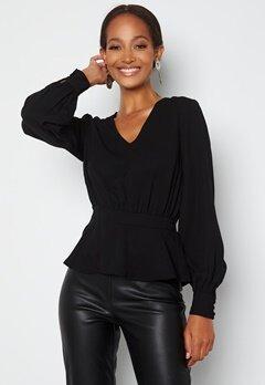 Happy Holly Bonnie blouse Black bubbleroom.dk