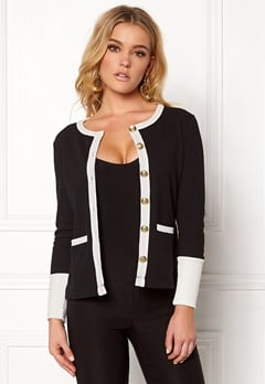 Happy Holly Calla cardigan Black / Offwhite Bubbleroom.dk
