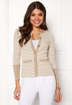 Happy Holly Calla cardigan Light mole / Striped Bubbleroom.dk