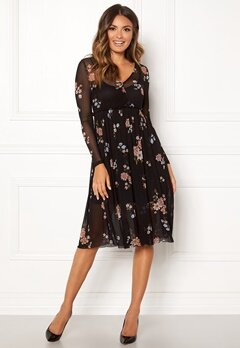 Happy Holly Cameron mesh dress Black / Patterned Bubbleroom.dk