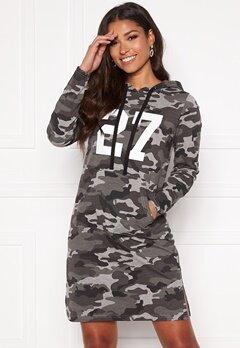 Happy Holly Camila tricot hood Grey melange / Camouflage Bubbleroom.dk