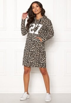 Happy Holly Camila tricot hood Leopard Bubbleroom.dk