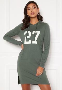 Happy Holly Camila tricot hood Khaki green Bubbleroom.dk