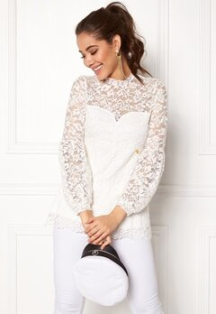 Happy Holly Caroline lace top Offwhite Bubbleroom.dk