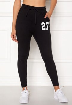 Happy Holly Carolyn tricot pants Black bubbleroom.dk