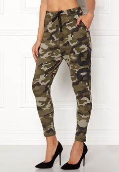 Happy Holly Carolyn tricot pants Camouflage Bubbleroom.dk
