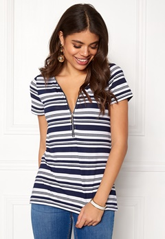 Happy Holly Carrie top Striped Bubbleroom.dk