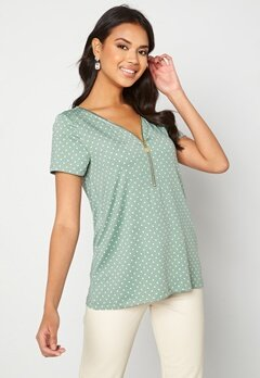 Happy Holly Carrie top Light mint / Offwhite bubbleroom.dk