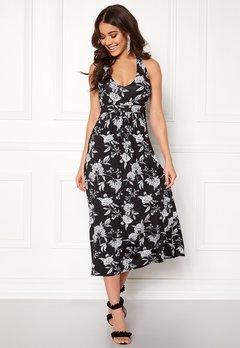 Happy Holly Cathrine halter dress Black / Offwhite Bubbleroom.dk