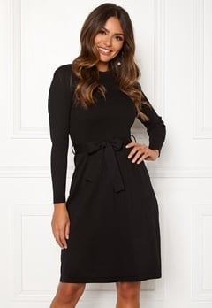 Happy Holly Cecile knitted dress Black Bubbleroom.dk
