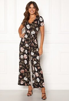 Happy Holly Celine Jumpsuit Black / Patterned Bubbleroom.dk