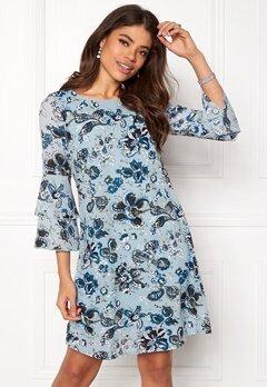 Happy Holly Charlene dress Medium blue / Patterned Bubbleroom.dk