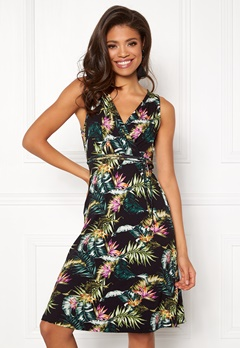 Happy Holly Charlot dress Black / Patterned Bubbleroom.dk
