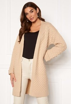 Happy Holly Cia cardigan Light beige Bubbleroom.dk