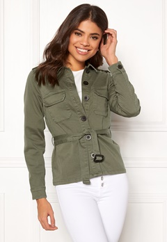 Happy Holly Cindy jacket Khaki green Bubbleroom.dk