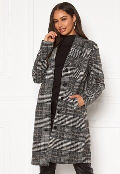 Happy Holly Corinne checked coat Checked Bubbleroom.dk