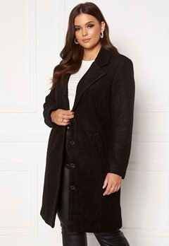Happy Holly Corinne wool coat Black Bubbleroom.dk