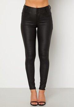 Happy Holly Daniella coated pants  Black bubbleroom.dk