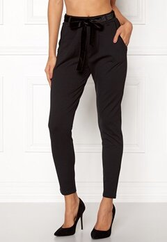 Happy Holly Davina tricot pants Black Bubbleroom.dk