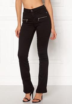 Happy Holly Debra bootcut jeans Black Bubbleroom.dk