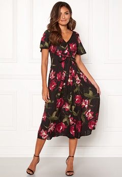 Happy Holly Denice dress Floral / Black Bubbleroom.dk