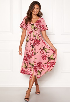Happy Holly Denice dress Pink / Floral Bubbleroom.dk