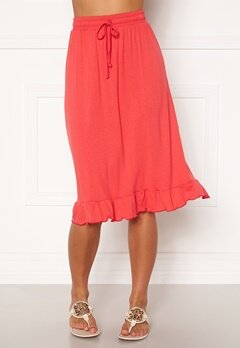 Happy Holly Desiree frill skirt Red Bubbleroom.dk