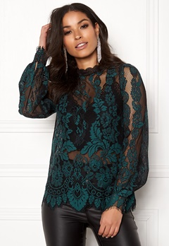 Happy Holly Edda lace top Black Bubbleroom.dk