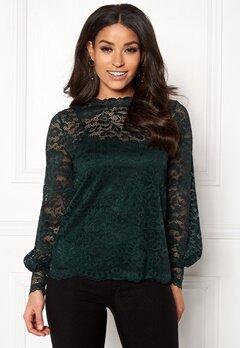Happy Holly Edda lace top Dark green Bubbleroom.dk