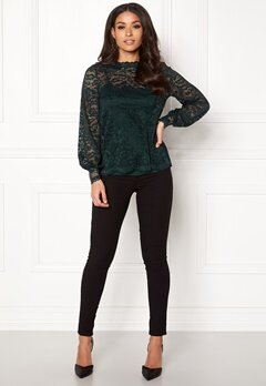 Happy Holly Edda lace top Dark green Bubbleroom.dk