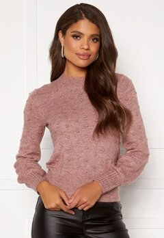 Happy Holly Edith knitted sweater Dusty pink / Melange Bubbleroom.dk