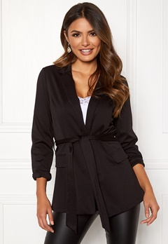 Happy Holly Eleanor tricot blazer Black Bubbleroom.dk