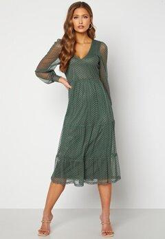 Happy Holly Elin mesh dress Green Bubbleroom.dk