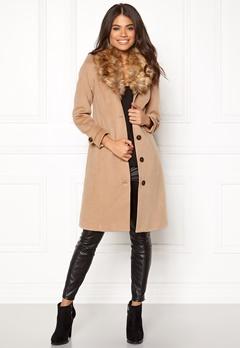 Happy Holly Elisa coat Camel Bubbleroom.dk