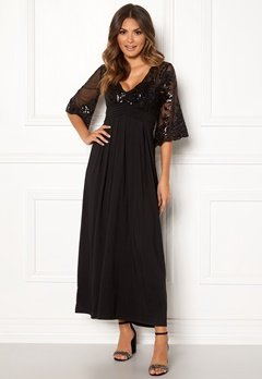 Happy Holly Elise maxi dress Black Bubbleroom.dk
