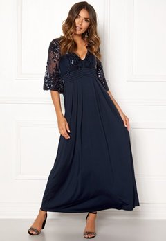 Happy Holly Elise maxi dress Dark blue Bubbleroom.dk