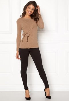 Happy Holly Elizabella sweater Beige melange Bubbleroom.dk
