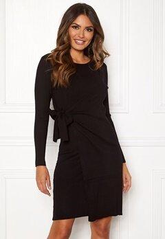 Happy Holly Elizabella knitted dress Black Bubbleroom.dk