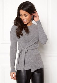 Happy Holly Elizabella sweater Dark grey melange Bubbleroom.dk