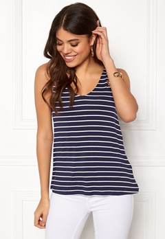 Happy Holly Ella top Navy / Striped Bubbleroom.dk