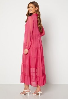 Happy Holly Elsie Maxi Dress  Cerise Bubbleroom.dk