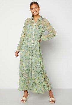 Happy Holly Elsie Maxi Dress  Green / Floral Bubbleroom.dk
