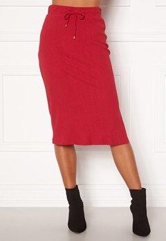 Happy Holly Emilia midi skirt Dark red Bubbleroom.dk