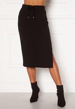 Happy Holly Emilia midi skirt Black Bubbleroom.dk