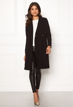 Happy Holly Emma coat Black Bubbleroom.dk