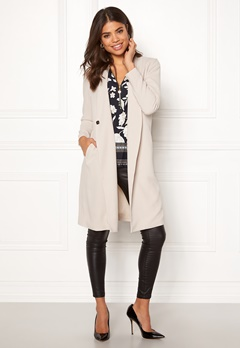 Happy Holly Emma coat Light beige Bubbleroom.dk