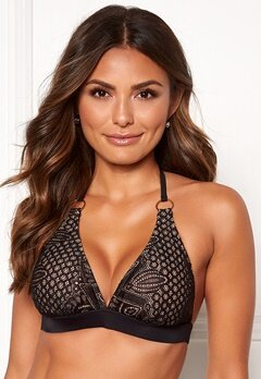 Happy Holly Emma lace bikini bra Black / Beige Bubbleroom.dk