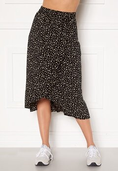 Happy Holly Emma skirt Black / Offwhite Bubbleroom.dk