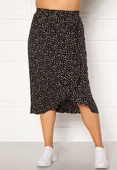 Happy Holly Emma skirt Black / Offwhite Bubbleroom.dk