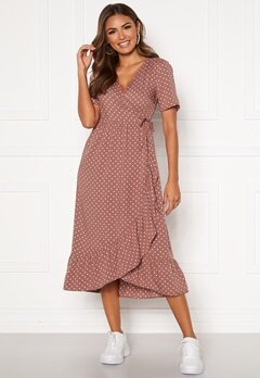 Happy Holly Evie wrap dress Dusty pink / Dotted Bubbleroom.dk